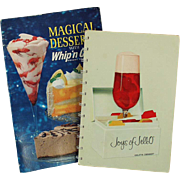 Vintage Jell-O and Whip 'n Chill Recipe Booklets
