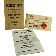 Vintage Remington Shotgun Ephemera - Wingmaster Model 870 Instruction Booklet