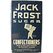 Vintage Sample - Jack Frost Confectioners Sugar Box