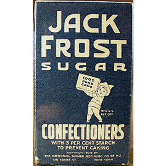 Vintage Sample - Jack Frost Confectioners Sugar Box