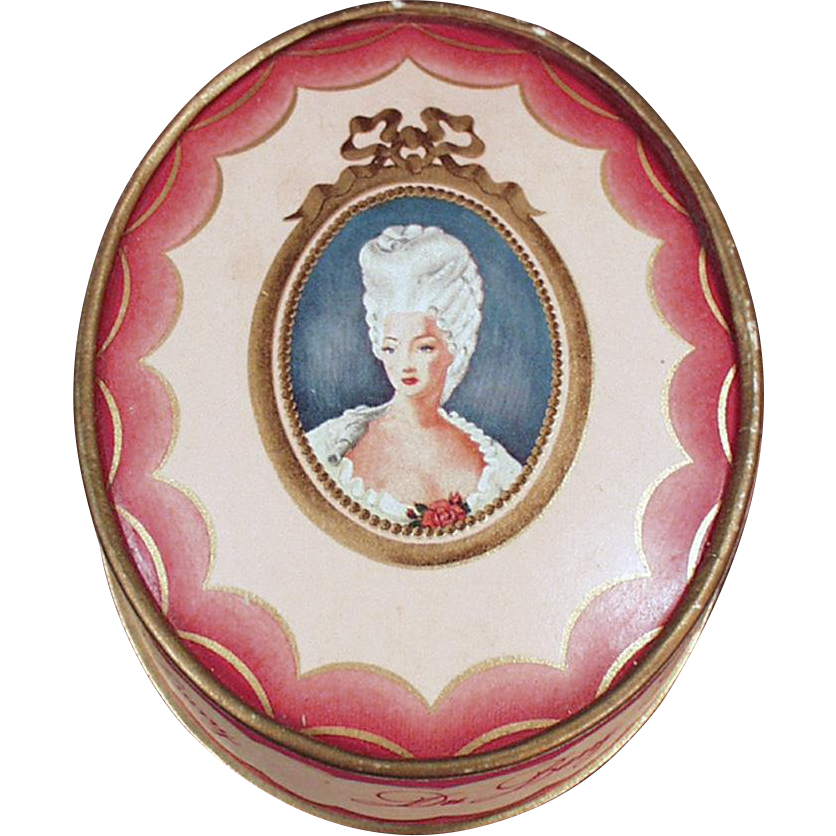 Vintage Du Barry Face Powder Box - Richard Hudnut