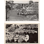 Two Vintage Postcards - Photographs of Depoe Bay, Oregon