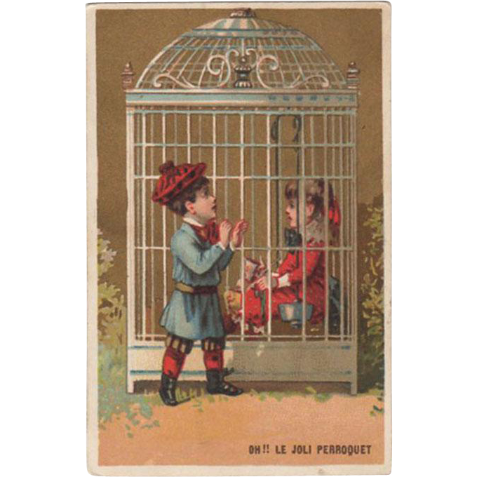 Vintage Trade Card  for George Caffe French Goods