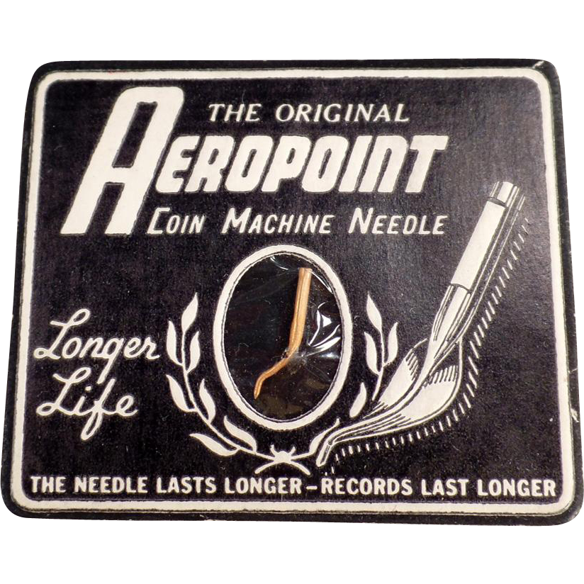 Vintage Coin Machine Phonograph Needle - Aeropoint