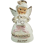 Vintage Porcelain Angel - June Angel with Wedding Rings