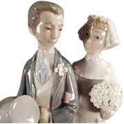 Vintage Lladro #4808 Wedding - Bride & Groom Figurine
