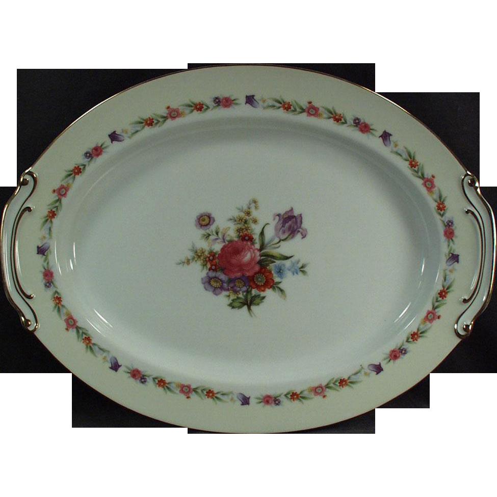 Vintage Serving Platter - Sango China - Occupied Japan - Large 16in. Serving Platter