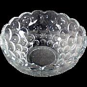 Vintage Heisey Serving Bowl - Provincial Pattern
