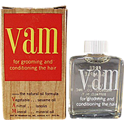 Vintage VAM Sample Bottle with Original Box