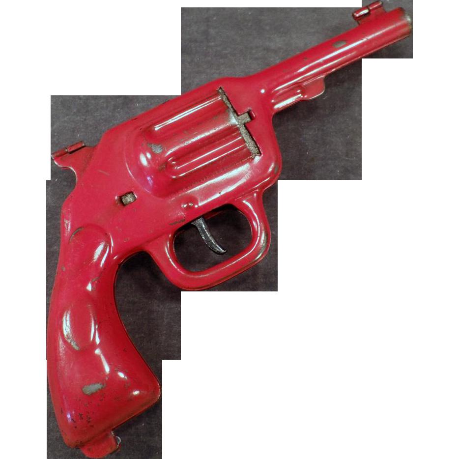 Vintage Pressed Steel Wyandotte Clam Shell Cap Gun Pistol