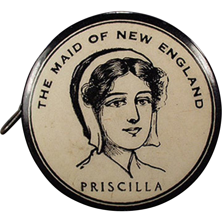 Vintage Advertising Tape Measure - Celluloid - Priscilla Maid of New England