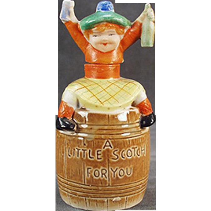 Vintage Porcelain Flask -  Little Scotch - Cute Piece