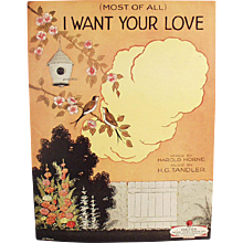 Vintage Sheet Music - Most of All I Want Your Love - 1924