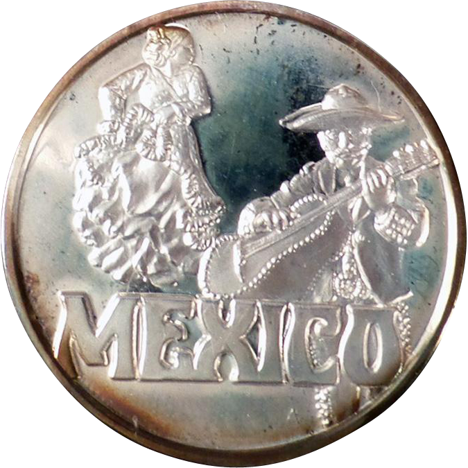 Sterling Silver Ingot - Hamilton Mint Countries of the World Series - Mexico