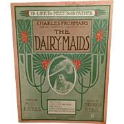 Vintage Sheet Music – I'd Like to Meet Your Father from the Musical Dairy Maids