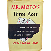 Vintage Book – Mr. Moto's Three Aces – 1938 Hardbound with Dust Jacket