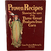 Vintage Booklet - Proven Recipes from the Corn Products Refining Co. – Circa 1920's