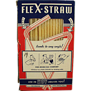 Vintage Paper Flex-Straws in Original Box