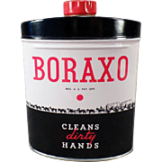 Vintage 20 Mule Team Boraxo Powdered Hand Soap Tin