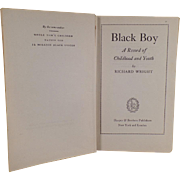 Vintage Hardbound Book - Black Boy by Richard Wright - 1945