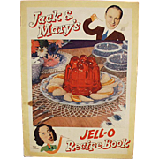 Vintage Jell-O Recipe Book - Jack Benny & Mary Livingstone with Comic Strip Format