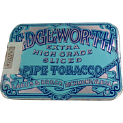 Vintage Tobacco Tin - Edgeworth Sliced Pipe Tobacco - Pocket Tin - Very Nice Condition