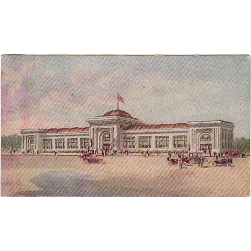 Vintage Advertising Postcard - Watkins Administration Building in Winona