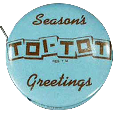 Vintage Celluloid Tape Measure - Toi-Tot - Hush-A-Babe Advertising