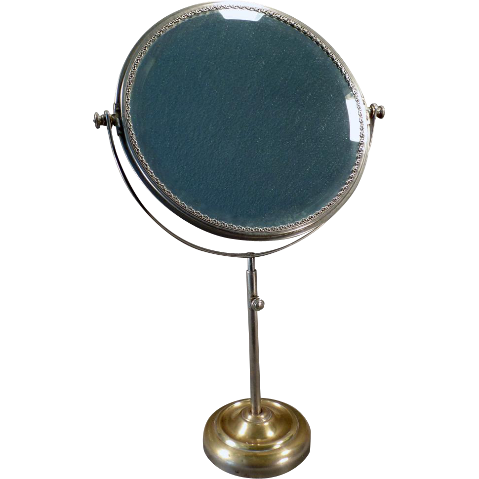 Vintage vanity or shaving mirror beveled swivel mirror for Shaving mirror