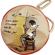 Vintage Celluloid Baby Rattle - Little Jack Horner Nursery Rhyme