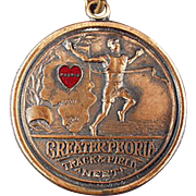 Vintage Track Meet Sports Medal - Peoria, Illinois