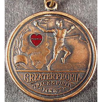 Vintage Track Meet Sports Medal - Peoria, Illinois