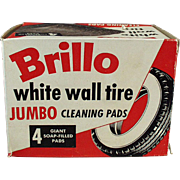 Vintage Brillo Box -  White Wall Tire Cleaning Pads