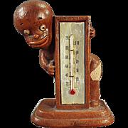 Vintage Black Memorabilia Thermometer - Syroco Black Boy