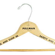 Vintage Pullman Train Wooden Clothes Hanger