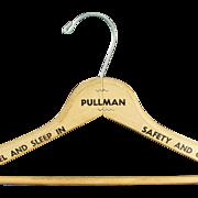 Vintage Pullman Train Wooden Clothes Hanger