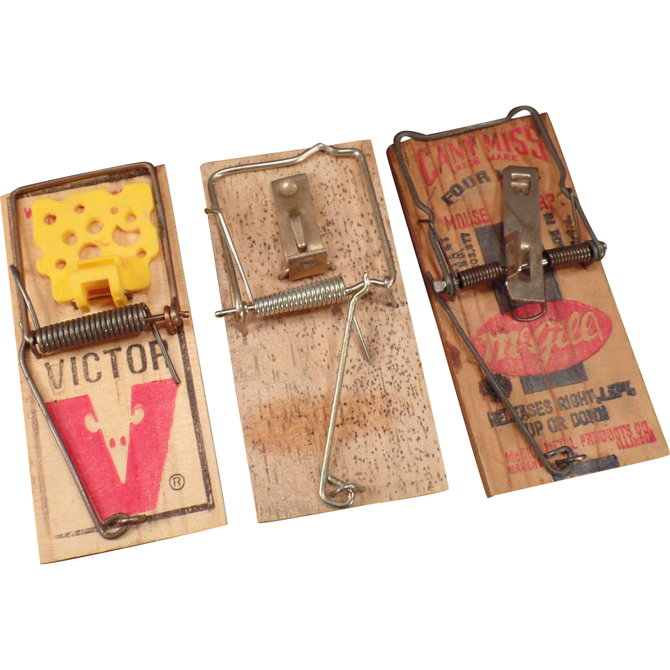 Three Vintage Mouse Traps – Can't Miss & Victor