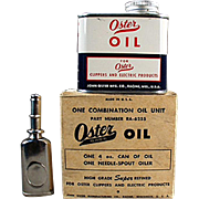 Vintage Oster Oil Tin with Oiler & Original Box
