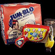 Vintage Bubble Blowing Machine - Jum-Blo Bubble Machine Gun with Original Box