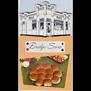 Vintage White Castle Hamburger Restaurant Advertising - Bridge Notepad