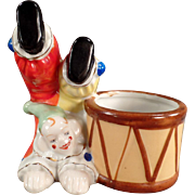Vintage Ceramic Clown Planter - Nice Accent Piece for a Baby's Room