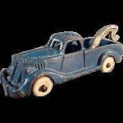 Vintage Hubley Cast Iron - Wrecker Tow Truck - Original Paint
