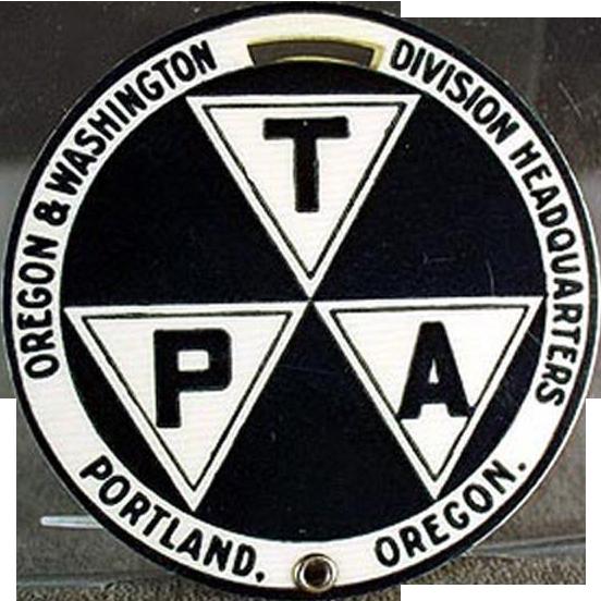 Vintage Whitehead-Hoag Celluloid Luggage Tag - Portland, Oregon Advertising