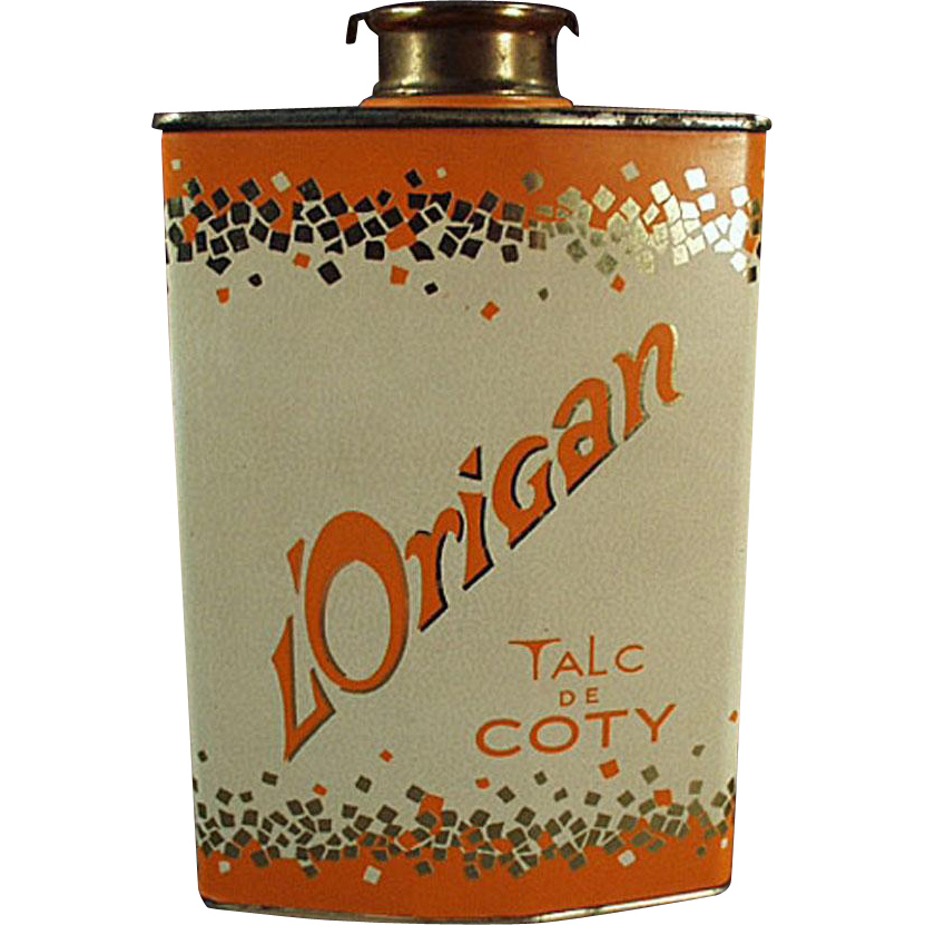 Vintage Perfumed Talc Tin  - Coty L'Origan