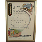 Vintage Motto - A Home Blessing Prayer - 1957 Calendar