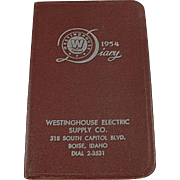 1954 Diary - Vintage Westinghouse Advertising - Boise, Idaho