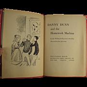 Child's Vintage Book - Danny Dunn and the Homework Machine - 1959 Hardbound
