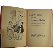 Child's Vintage Book - Danny Dunn and the Homework Machine - 1959 Hardbound
