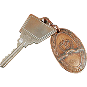 Vintage Hilton Hotel Room Key with Metal Tag - Hilton of San Francisco