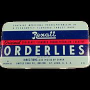 Vintage Laxative Tin - Rexall Orderlies Laxative
